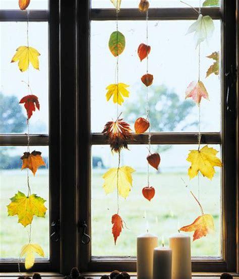 Herbstdeko Fenster Hängend by Fensterdeko Zum Herbst Kreative Vorschl 228 Ge