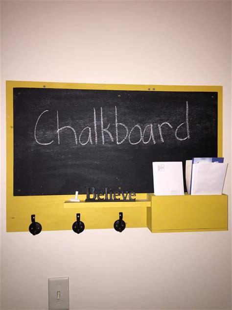 diy chalkboard mail organizer diy pallet chalkboard with mail organizer pallet