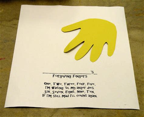 forgiveness crafts for the fantastic five bible alive tuesday forgiving fingers