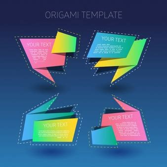origami paper size template ribbon vectors photos and psd files free