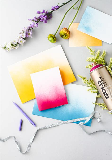 paper use spray paint 10 diy stationery ideas the crafted