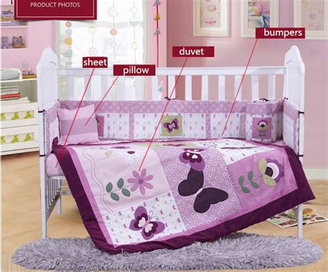 discount baby crib bedding sets discount 4pcs purple baby bed bumper baby crib bedding