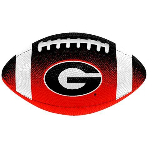 georgia bulldogs logo mini rubber football at sport seasons