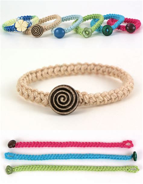 crochet bracelets with crochet pretty bracelets with patterns braided bracelets