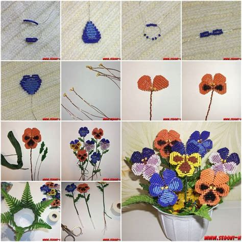 how to make beaded flowers diy beautiful flowers with