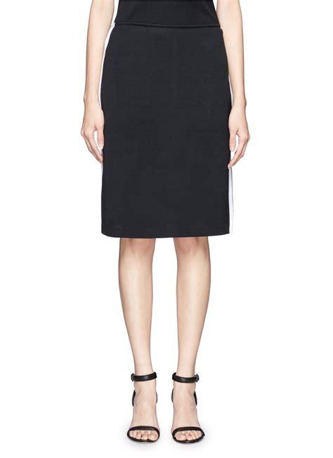 knit pencil skirt st knit pencil skirt in black lyst