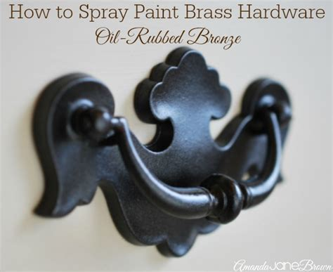 spray painting hardware how to spray paint brass hardware amanda brown
