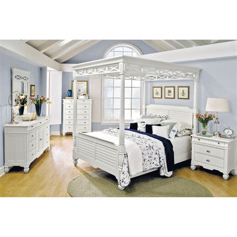 plantation style bedroom furniture plantation cove white canopy bedroom bed american