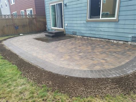 extend patio with pavers paver patio extension ajb landscaping fence