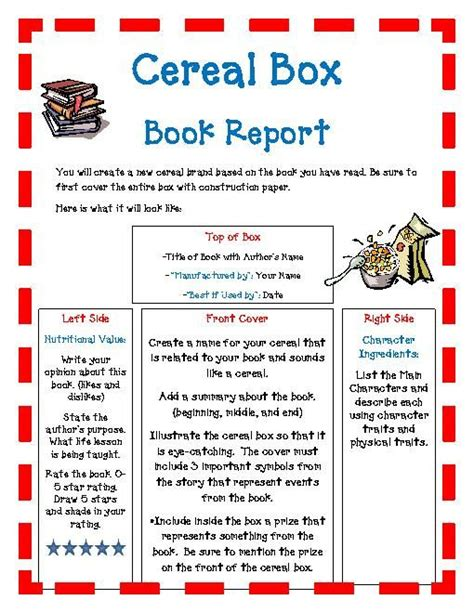 cereal box book report pictures best 25 book report projects ideas on book