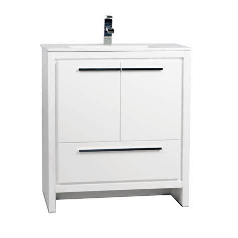 bathroom vanities tn buy cbi enna 30 inch glossy white modern bathroom vanity