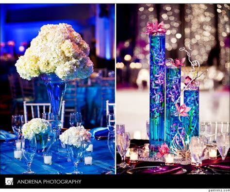 colored water centerpieces and colors weddingbee