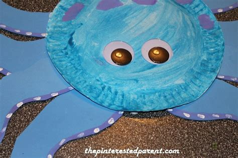 paper octopus craft paper plate octopus the pinterested parent