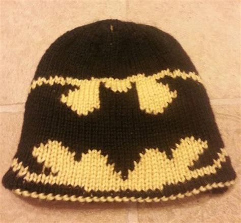batman knit hat batman knitting and knits on