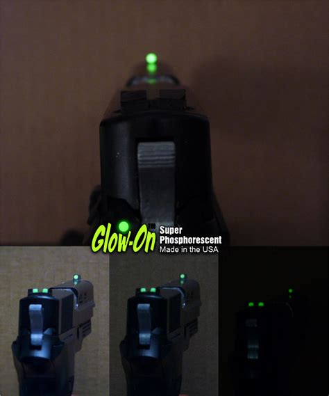 best glow in the paint for gun sights glow on phosphorescent gun sights paint for sale on