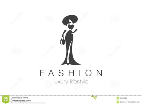 fashion elegant woman logo lady negative space jewelry