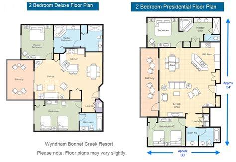 Wyndham Bonnet Creek 3 Bedroom Deluxe by Wyndham Bonnet Creek Floor Plans Gurus Floor