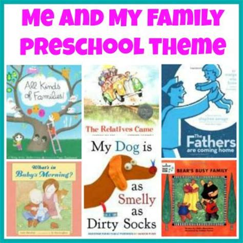 family picture books my family theme weekly home preschool on