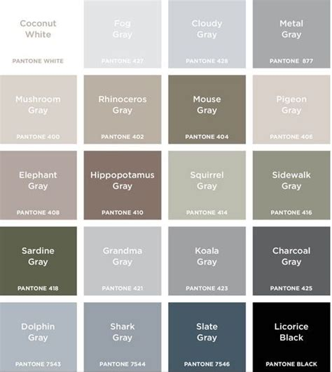 shades of grey colors colour names grey search colour