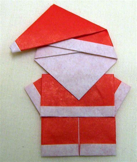 origami santa folded paper santa crafts