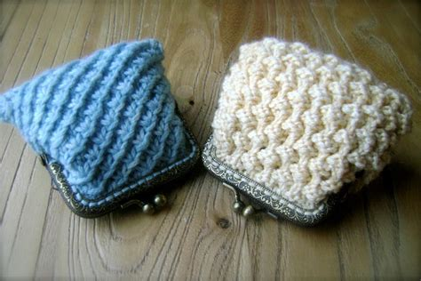 knitted purse patterns teeny coin purse by florriemarie craftsy