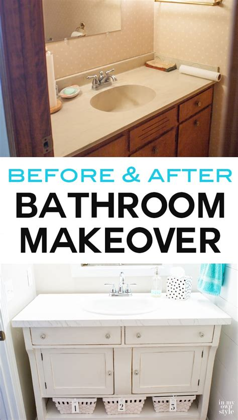 Ikea Small Bathroom Vanity quiet chic powder room makeover in my own style