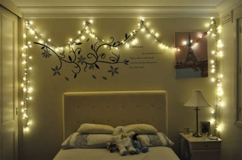 lights on bedroom wall decorating room with lights room decorating