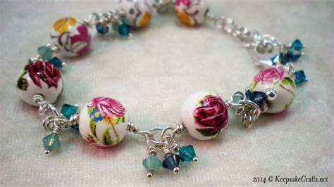 jewelry how to make how to make a bead and swarovski bracelet