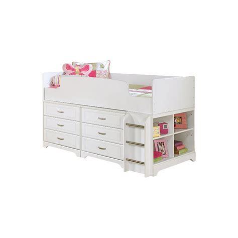 lulu loft bed lulu wood cubby drawer storage loft bed in