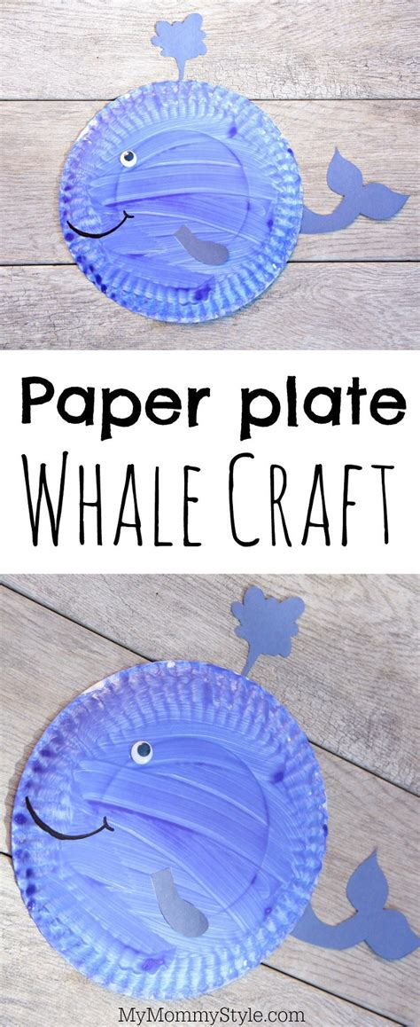 paper plate whale craft whale paper plate craft my style