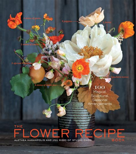 flower picture book the flower recipe book floral how to from studio choo