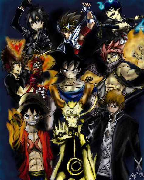 anime heroes anime heroes by nevergiveup1 on deviantart
