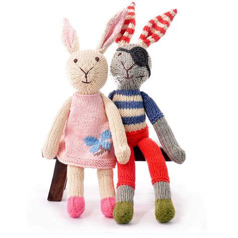 knitting toys knitted soft rabbit by chunkichilli