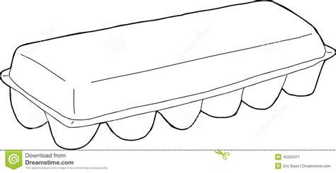 egg carton outline stock vector image 45205911