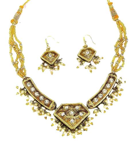 indian necklace indian lac costume jewellery enamel fashion necklaces
