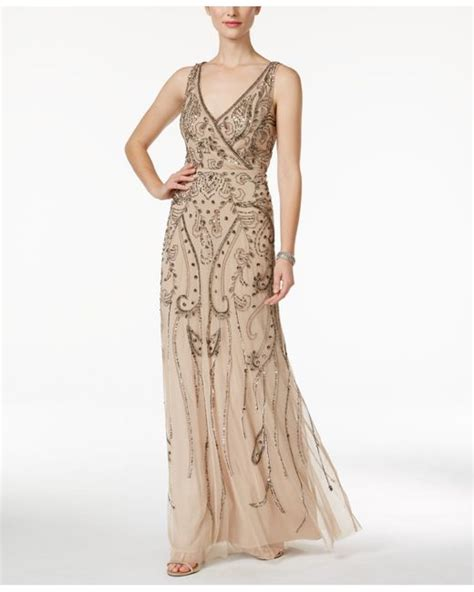 gold beaded evening gown papell beaded surplice evening gown in gold