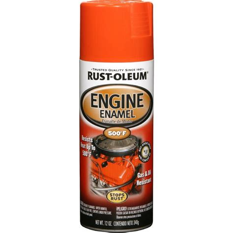 home depot paint rust rust oleum automotive 12 oz engine enamel gloss chevy