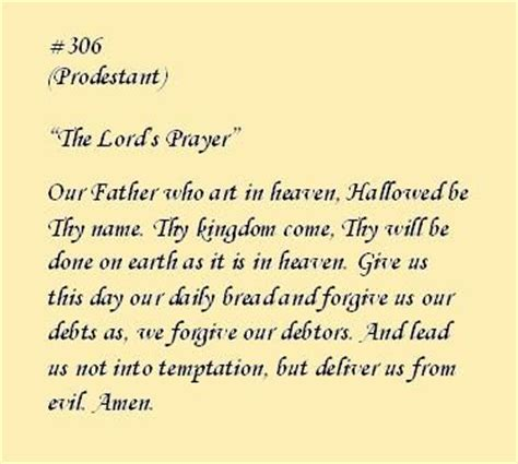 how to make protestant prayer the lord s prayer protestant poems and prayers