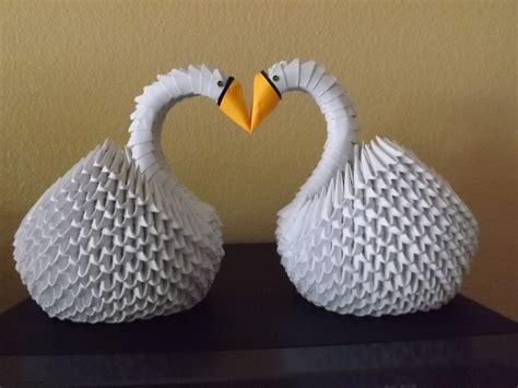 3d origami swan for sale sale 3d origami 2 swans swan for wedding table