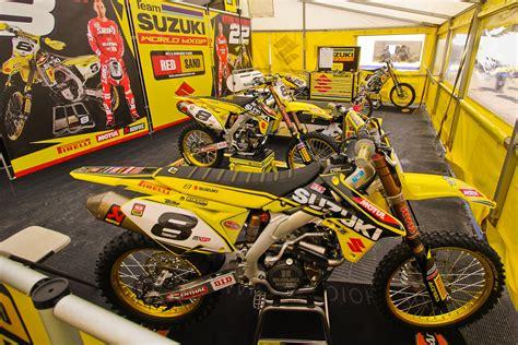 Suzuki Mx by Team Suzuki World Mxgp In The Pits Mxgp Of Europe