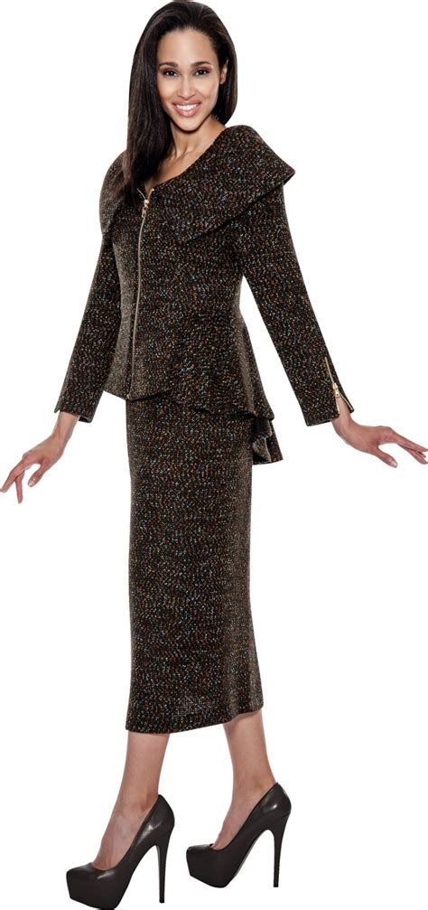 knitted suit knit suits black multi td94502 not just church suits
