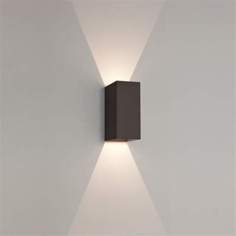led lights exterior astro 7061 oslo 160 black exterior led wall light at
