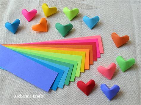 paper hearts origami katherina krafts on how to fold origami hearts