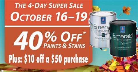 sherwin williams paint store sale sherwin williams paint coupon 10 50 purchase