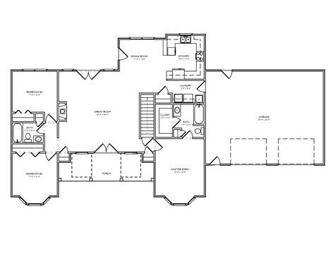 split plan house rustic split bedroom open floor plans house design and