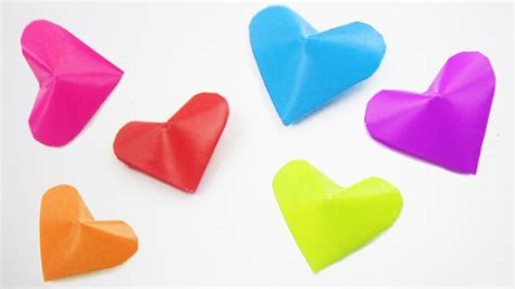3d hearts origami how to make origami 3d quot lucky hearts quot ideas on how to