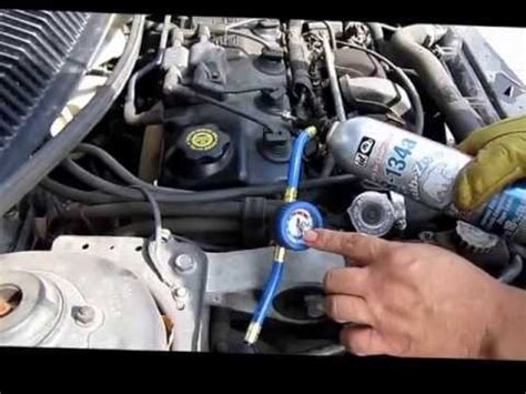 how to add refrigerant to a 2001 2004 dodge caravan 2003 dodge caravan se 3 3l v6 flexfuel how to put refrigerant in your car youtube