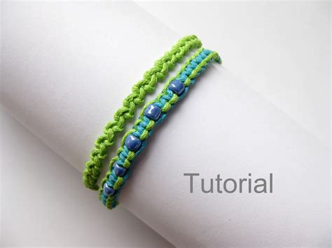 bracelets beginners beginners knotted bracelet tutorials two patterns pdf step by