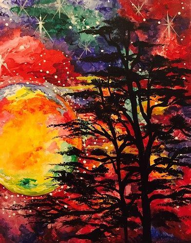 paint nite west island paint nite galaxy sky