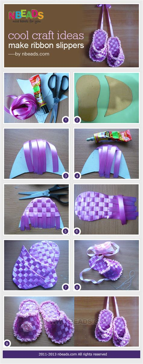 craft ideas for to make cool craft ideas make ribbon slippers pictures photos